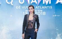 """Minh Tú diện áo xuyên thấu gợi cảm táo bạo dự ra mắt phim """"Aquaman"""""""