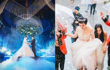 """Xôn xao siêu đám cưới 4,6 tỷ ở Hải Phòng: Chú rể cưới """"bạch mã"""" siêu xe Mayback trị giá triệu đô đón cô dâu đến hôn trường lãng mạn như truyện cổ tích"""