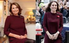 """""""Con nào mẹ nấy"""": Đến mẹ đẻ của Công nương Kate Middleton cũng mê mẩn style và diện y như con gái"""