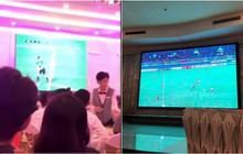 Lên xe hoa đúng ngày chung kết AFF Cup, đám cưới bỗng trở thành tụ điểm xem bóng tập thể!