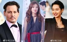 Thảm đỏ LHP Vân Nam: Triệu Vy bùng nổ nhan sắc nữ thần bên Tô Hữu Bằng, Johnny Depp và dàn mỹ nhân đình đám