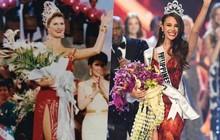 Sự giống nhau lạ kỳ của Hoa hậu Hoàn vũ 1992 và 2018: Đều lọt Top 5 Miss World và thắng Miss Universe trong bộ váy cùng màu