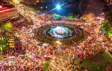 """Hình ảnh flycam ấn tượng tại """"chảo lửa"""" Thái Nguyên trong đêm chung kết AFF Cup được chia sẻ khiến nhiều người choáng ngợp"""