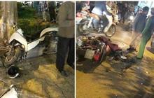 Ảnh: Hàng loạt xe máy vỡ nát, người bị thương nằm la liệt sau khi bị nữ tài xế lái Lexus tông trúng trên phố Hà Nội