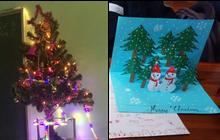 Bất chấp cơn ác mộng thi học kỳ đến gần, học sinh vẫn tưng bừng trang hoàng lớp học chào mừng Giáng sinh