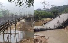 Xôn xao hình ảnh cây cầu vừa đổ bê tông đã sập