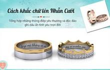 Lưu giữ thông điệp yêu thương bằng cách khắc ghi dấu ấn lên nhẫn cưới