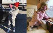 """Là """"rich kid"""" từ trong trứng, con gái Kylie Jenner chưa được 1 tuổi đã ngồi phi cơ riêng bay khắp nơi"""