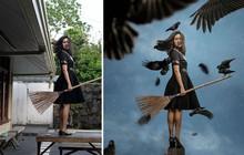 """Tài năng Photoshop """"thượng thừa"""", cô nàng biến bộ ảnh vườn nhà những kiệt tác nghệ thuật"""