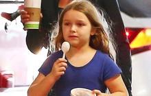 """Ngày ngày được đưa đi ăn, bé út Harper Beckham dần trở nên """"ú nà ú nần"""" nhất gia đình"""