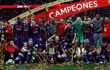 Barca lần thứ 4 liên tiếp giành Cúp Nhà vua, san bằng kỷ lục của Real Madrid