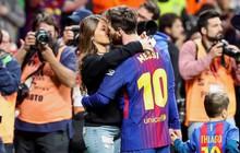 Messi lãng mạn hôn vợ Antonella ngày đăng quang Cúp Nhà vua