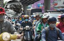 Nghi vấn thanh niên tự đốt xe máy vì bị bắt lỗi vi phạm giao thông, cửa ngõ Tân Sơn Nhất ùn tắc kinh hoàng