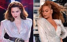 Cùng 1 ngày ở 2 sân khấu cách nhau nửa vòng trái đất, Hồ Ngọc Hà và Beyonce ăn mặc như thể đang diễn chung một màn