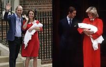Hình ảnh Công nương Kate trước cửa bệnh viện gợi nhớ tới Công nương Diana 34 năm trước khi Hoàng tử Harry ra đời