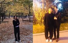 Nhìn Song Joong Ki mặc cả cây đen mà tưởng như anh mượn đồ của chị vợ Song Hye Kyo vậy