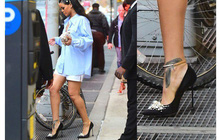 Không phải ai cũng đi giày cao gót thần sầu như Rihanna, nên mới có miếng bảo vệ gót giày chống lọt hố này