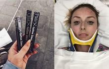 """Bị tai nạn vẫn không quên review bút kẻ mắt tốt, cô gái này khiến các """"tín đồ làm đẹp chân chính"""" phải bái phục"""