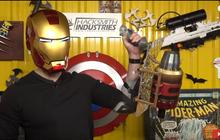 YouTuber bỏ cả việc để chế bảo bối Avengers: Biến hóa khiên Captain, giáp Iron Man như thật