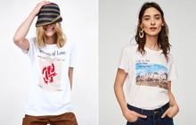 Nếu chán áo phông trắng trơn hay in chữ, Zara cùng H&M còn đủ kiểu áo in hình nổi bật mà giá chưa quá 500 ngàn đồng