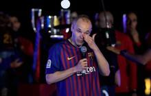 Huyền thoại Iniesta khóc nghẹn trong trận đấu cuối cùng khoác áo Barca