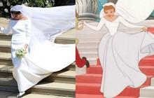 """Cư dân mạng phát hiện ra một khoảnh khắc đám cưới hoàng gia Anh giống hệt trong phim """"Lọ Lem"""" của Disney"""