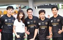 """Nhan Phúc Vinh, Thái Hòa... đá bóng từ thiện để quyên góp tiền giúp đỡ """"hiệp sĩ"""" bị cướp đâm trọng thương"""
