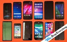 """Thử nghiệm thả rơi trị giá tới 400 triệu đồng này sẽ cho chúng ta biết smartphone cao cấp nào """"cứng đầu"""" nhất"""