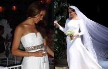 """Váy cưới của Meghan Markle trong hôn lễ với người chồng đầu và váy cưới hiện tại: cả một sự """"lên đời"""" ngoạn mục"""