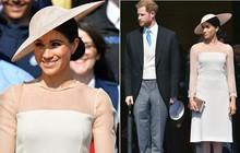 Tân công nương Meghan diện đầm trơn trang nhã, khoe vai trần nhẹ nhàng dự sự kiện Hoàng gia đầu tiên sau lễ cưới