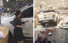 Kon Tum: Một phụ nữ lái xe bán tải lao thẳng vào giữa hiệu sách