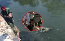 Hà Nội: Gieo mình xuống sông Sét tự tử nhưng được người dân cứu lên, cô gái bị choáng vì nước quá bẩn