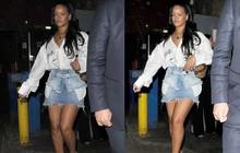 Hết chế chân váy làm áo quây, giờ Rihanna còn dùng nó làm cả thắt lưng