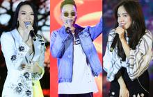 """Clip: Mỹ Tâm, Justatee, Phương Ly mang loạt hit đình đám """"cháy hết mình"""" cùng khán giả Hà thành"""