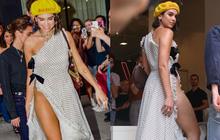Dua Lipa diện váy hở táo bạo, xẻ tà cao tới eo nhưng không có nội y che chắn