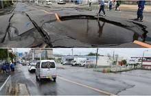 Nhật Bản: Đường vừa sụt lún hôm trước, hôm sau đã được khôi phục như thường