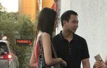 Giữa tin đồn kết hôn vào tháng 10, Lan Khuê và bạn trai tin đồn bị bắt gặp sánh đôi tại trung tâm tiệc cưới