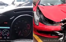 Trung Quốc: Vừa mua xe Ferrari 17 tỷ, cô gái trẻ lái ra khỏi cửa hàng được 2 giây thì đâm nát bét