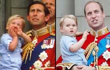 """Những khoảnh khắc cho thấy Hoàng tử William và George đúng là """"cha nào con nấy"""" giống nhau như tạc"""