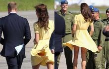 Là biểu tượng thanh lịch của Hoàng gia Anh nhưng không ít lần Công nương Kate phải đỏ mặt bối rối với tai nạn váy áo