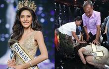 Cảm động hình ảnh Tân Hoa hậu Hòa bình Thái Lan quỳ rạp dưới chân hai đấng sinh thành tỏ lòng biết ơn