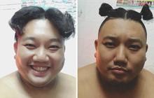 """Tự hỏi tóc chồng có thể để được bao nhiêu kiểu, vợ trẻ đã tự tìm câu trả lời theo cách """"bá đạo"""" này!"""