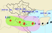 Tâm bão Sơn Tinh đang cách đất liền Thanh Hoá - Quảng Bình chỉ 190 km