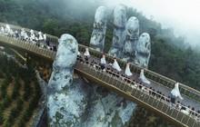"""Cầu Vàng với hai bàn tay khổng lồ ở Đà Nẵng đang khiến dân tình """"sốt xình xịch"""" vì đẹp đến choáng ngợp"""