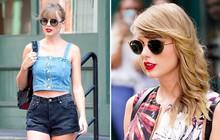 """Ngắm street style mới nhất của Taylor Swift sẽ thấy: dù ăn mặc đơn giản, con gái chỉ cần tô son đỏ là sẽ """"khí chất"""" tuyệt đối"""