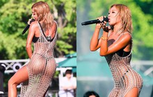 Rapper Jessi mặc váy lưới mix cùng bikini đi lễ hội nước, là phản cảm hay gợi cảm?