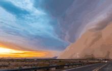 Nhiếp ảnh gia chuyên săn được cảnh tượng cơn bão cát khồng lồ trên bầu trời Arizona, Mỹ
