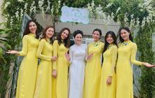 Đội hình bê tráp toàn mỹ nhân Vbiz xinh đẹp, nổi tiếng trong đám hỏi của Top 6 Hoa khôi áo dài 2014