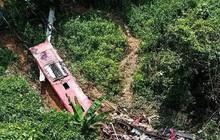 Hiện trường vụ xe khách lao xuống vực ở Cao Bằng, 4 người tử vong 