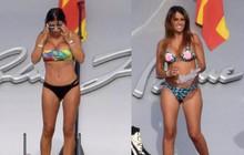 Vợ Messi và vợ Fabregas khoe vóc dáng gợi cảm với bikini